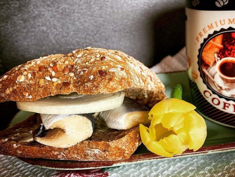 heringes halas szendvics recept